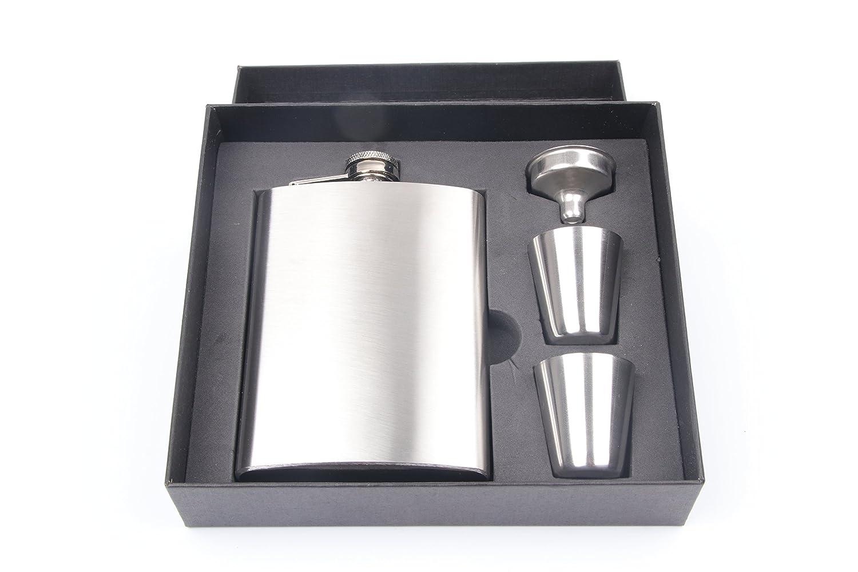 数量は多 ポータブルステンレススチール7 8 8 B07FGD35BR ozポケットヒップフラスコアルコールウイスキー酒スクリューキャップwith FunnelポータブルFlagonメンズのボトルと漏斗セットギフト Silver シルバー Silver 8oz B07FGD35BR, タケシムラ:ee3b9d30 --- a0267596.xsph.ru
