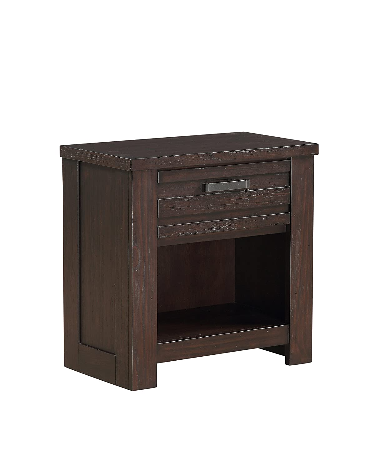 "Stylistics Hartford Nightstand, 27"" x 16"" x 27"", Dark Brown"