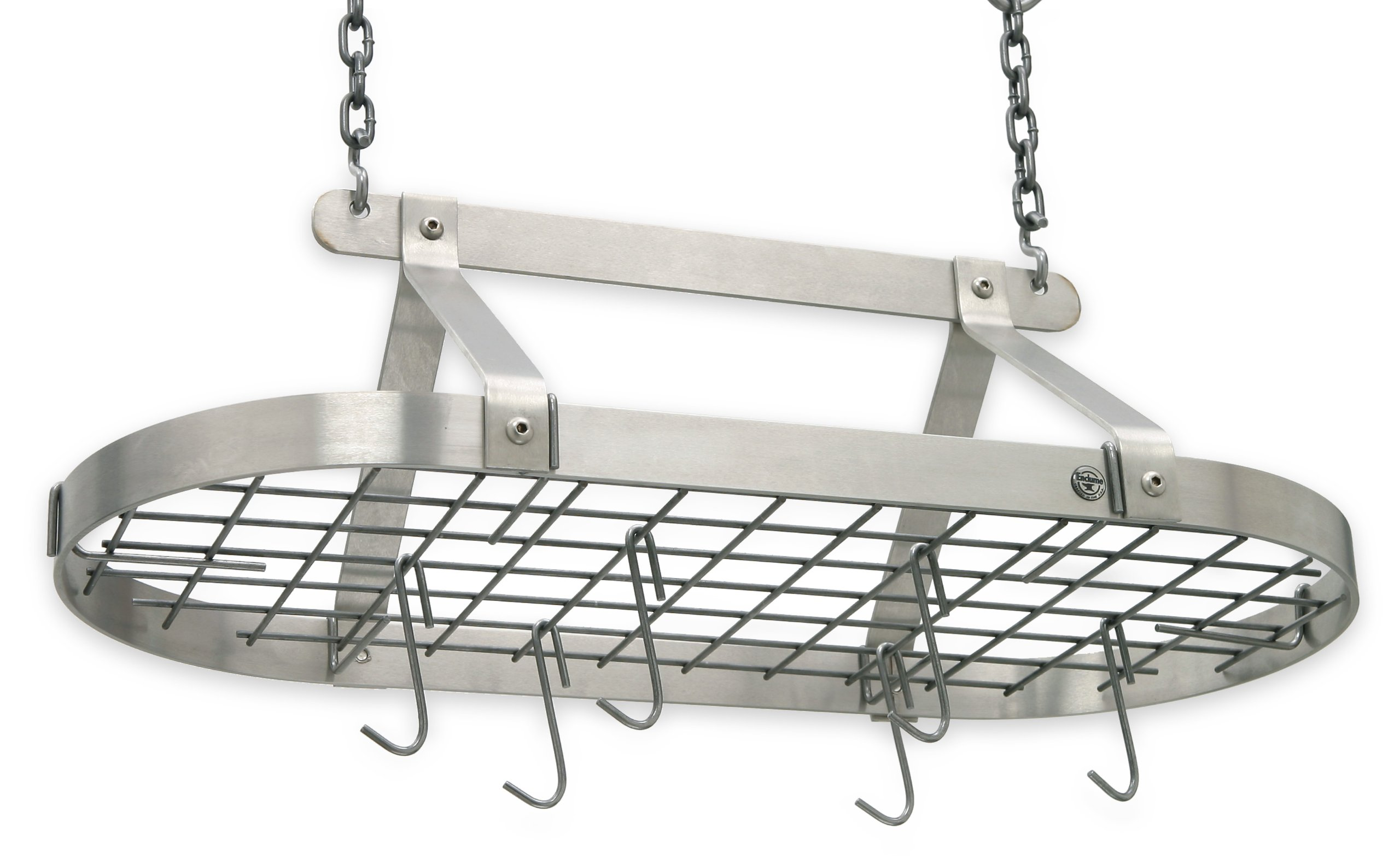 Enclume Décor Classic Oval Ceiling Pot Rack, Stainless Steel by Enclume