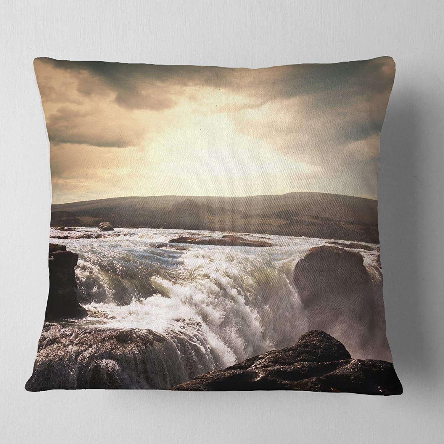 Kess InHouse Chelsea Victoria Ocean Love Photography Blue 23 x 23 Square Floor Pillow