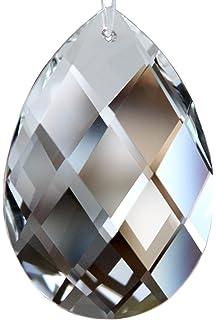 Rieser Kristall 6 St/ück Glas Eiszapfen 63mm Octagon f/ür L/üster Kronleuchter Dekoration
