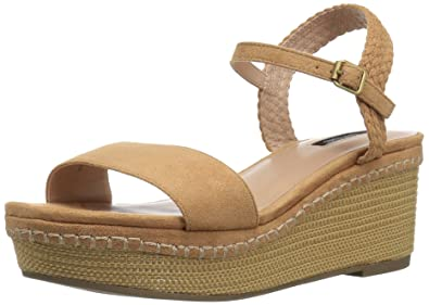 0d6688641ab88 kensie Women s Timothy Wedge Sandal Nude 10 ...