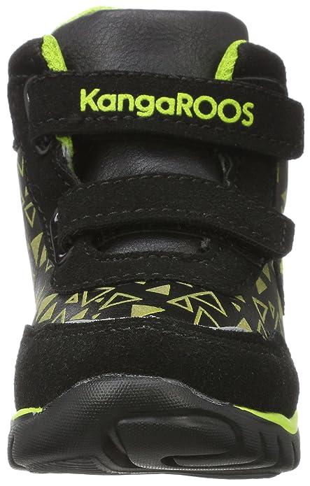 KangaROOS Inlite Glow Hi, Sneaker Unisex-Bimbi, Nero (Jet nero/Lime