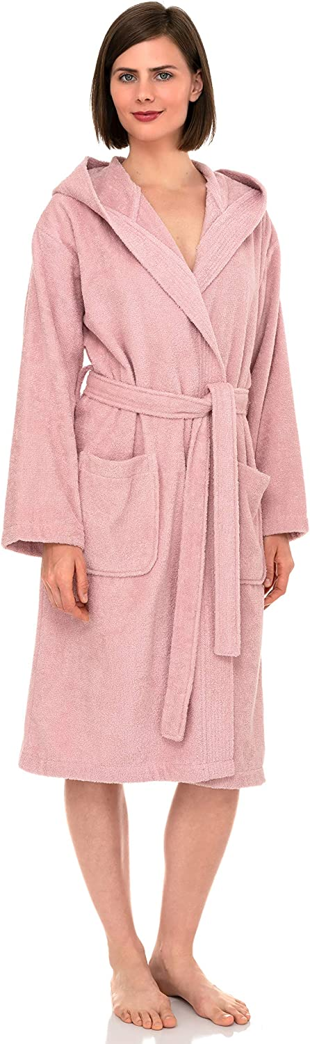 TowelSelections Women's Hooded Robe, Turkish Cotton Terry Cloth Bathrobe