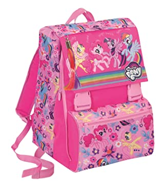 14b1faecf2b4 EXPANDABLE Backpack MY LITTLE PONY - Pink School Bag 31Lt  Amazon.co ...
