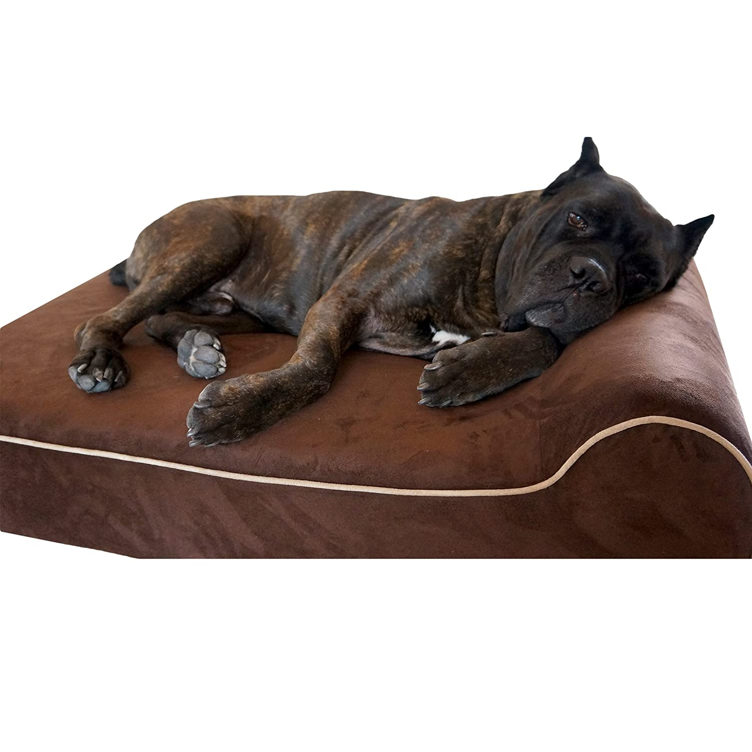 Bully Beds Orthopedic Memory Foam Dog Bed – Waterproof Bolster Beds for Large and Extra Large Dogs – Durable Pet Bed for Big Dogs