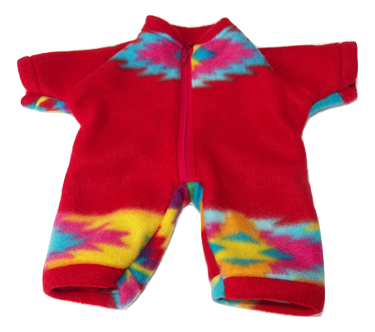 Cabbage Patch 16 Girl Doll Clothes Red Aztec Southwest Print Fleece Pant Romper