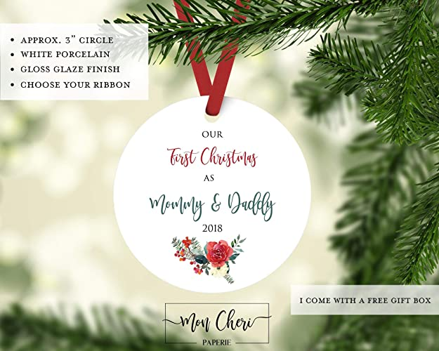 our first christmas as mommy and daddy ornament christmas ornament new parents ornament christmas - Christmas Gift For Parents