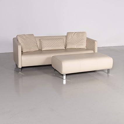 Rolf Benz 325 Designer Leder Sofa Hocker Garnitur Beige Echtleder Dreisitzer Couch 7309 Sanaa Amazon Co Uk Home Kitchen
