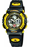 30m Water-proof Digital-analog Boys Girls Sport Digital Watch with Alarm Stopwatch Chronograph (Child) 6 Colors (Yellow-black)