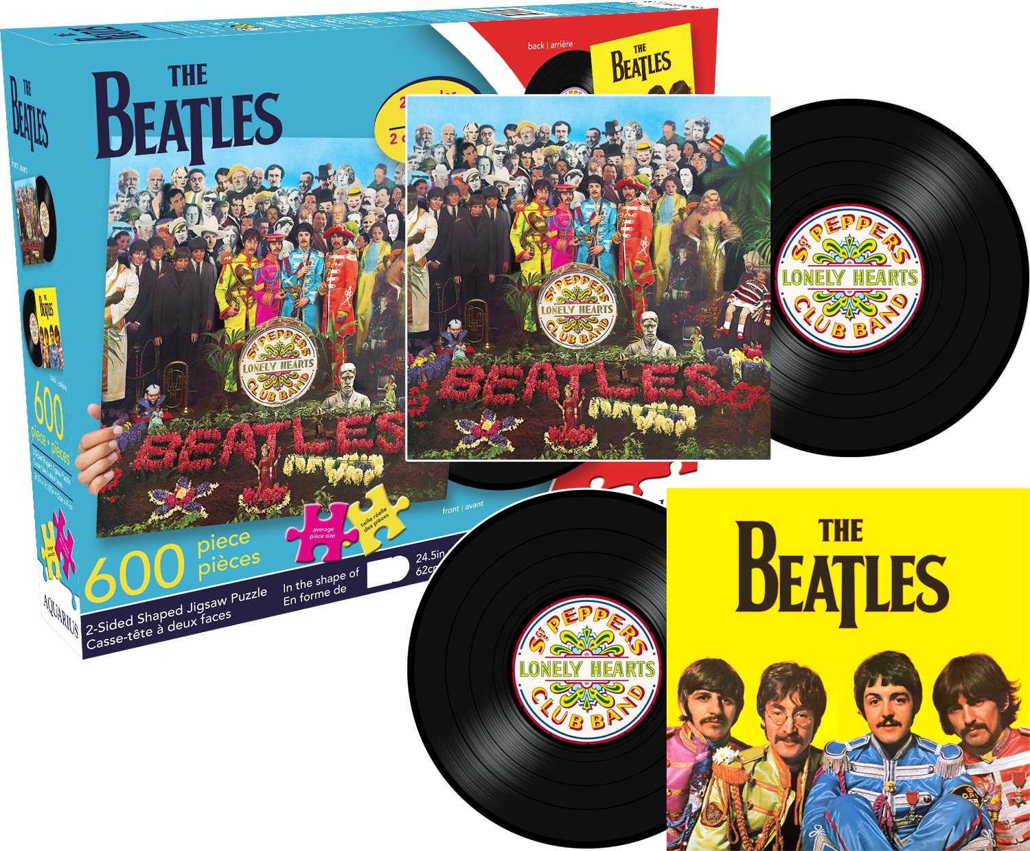 Aquarius Beatles SGT Sided Shaped Puzzle (600 Piece)