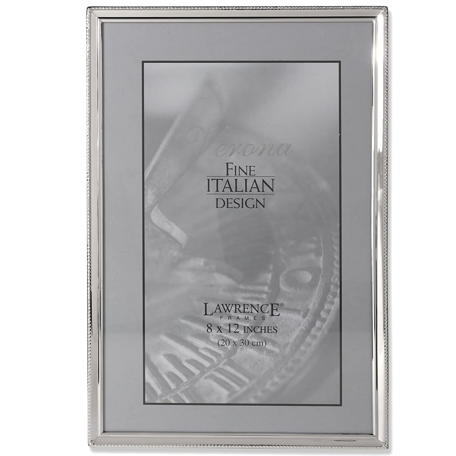 Amazon.com - Lawrence Frames Polished Silver Plate 8 by 12-Inch ...
