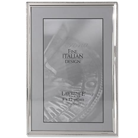 Amazoncom Lawrence Frames Polished Silver Plate 8 By 12 Inch