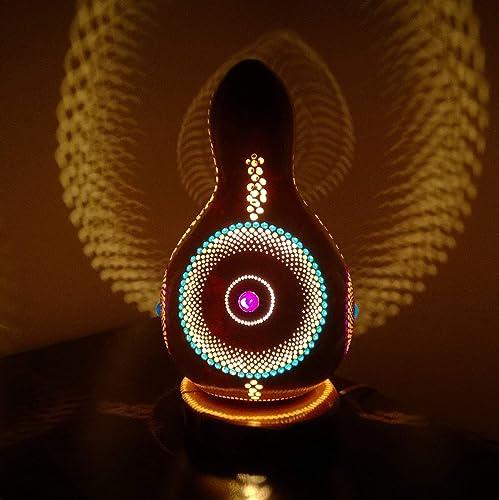 Amazon com: The Behold | Fine Gourd Lamp Night Light Unique Interior