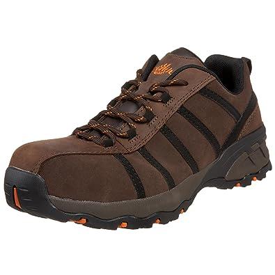 Nautilus 1708 Comp Toe No Exposed Metal EH Athletic Shoe,Black/Brown,7