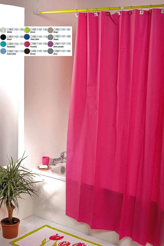 TENDANCE - Rideau de douche en PEVA, 180 x 200 cm, fuchsia, 200 x 30 ...