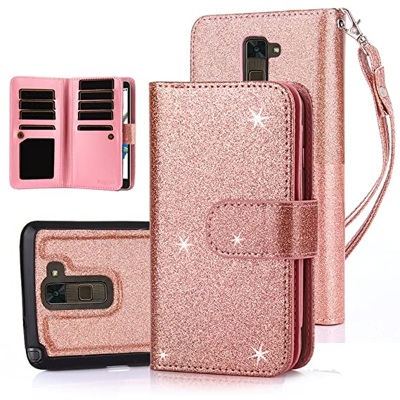 size 40 f6f29 b2877 TabPow LG G Stylo 2 PLUS MS550 Case, 10 Card Slot - [ID Slot] Wallet Folio  PU Leather Case Cover With Detachable Magnetic Hard Case For LG G Stylo 2  ...