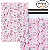10x13 Unicorn Design Poly Mailers Pink Self Sealing Shipping Envelopes Bags Pack of 100