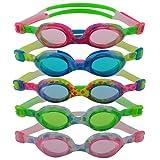 #DoYourSwimming Flippo« Kinder-Schwimmbrille, 100% UV-Schutz + Antibeschlag. Starkes Silikonband + stabile Box. TOP-MARKEN-QUALITÄT! AF-1700S
