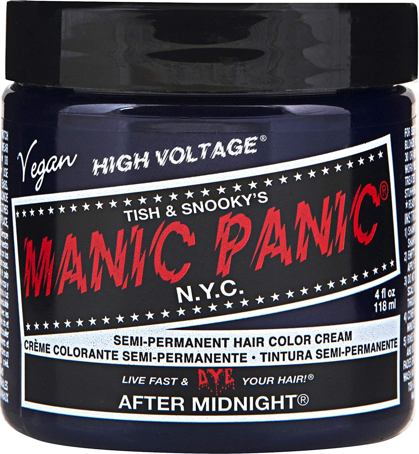manic panic hair dye: black container