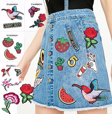 849f6b3df Parches 15 piezas un paquete mano hierro en parche bordado para coser en la  ropa pegatinas