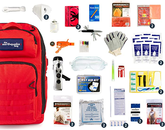 Complete Earthquake Bag - Emergency kit for Earthquakes, Hurricanes, floods + Other disasters