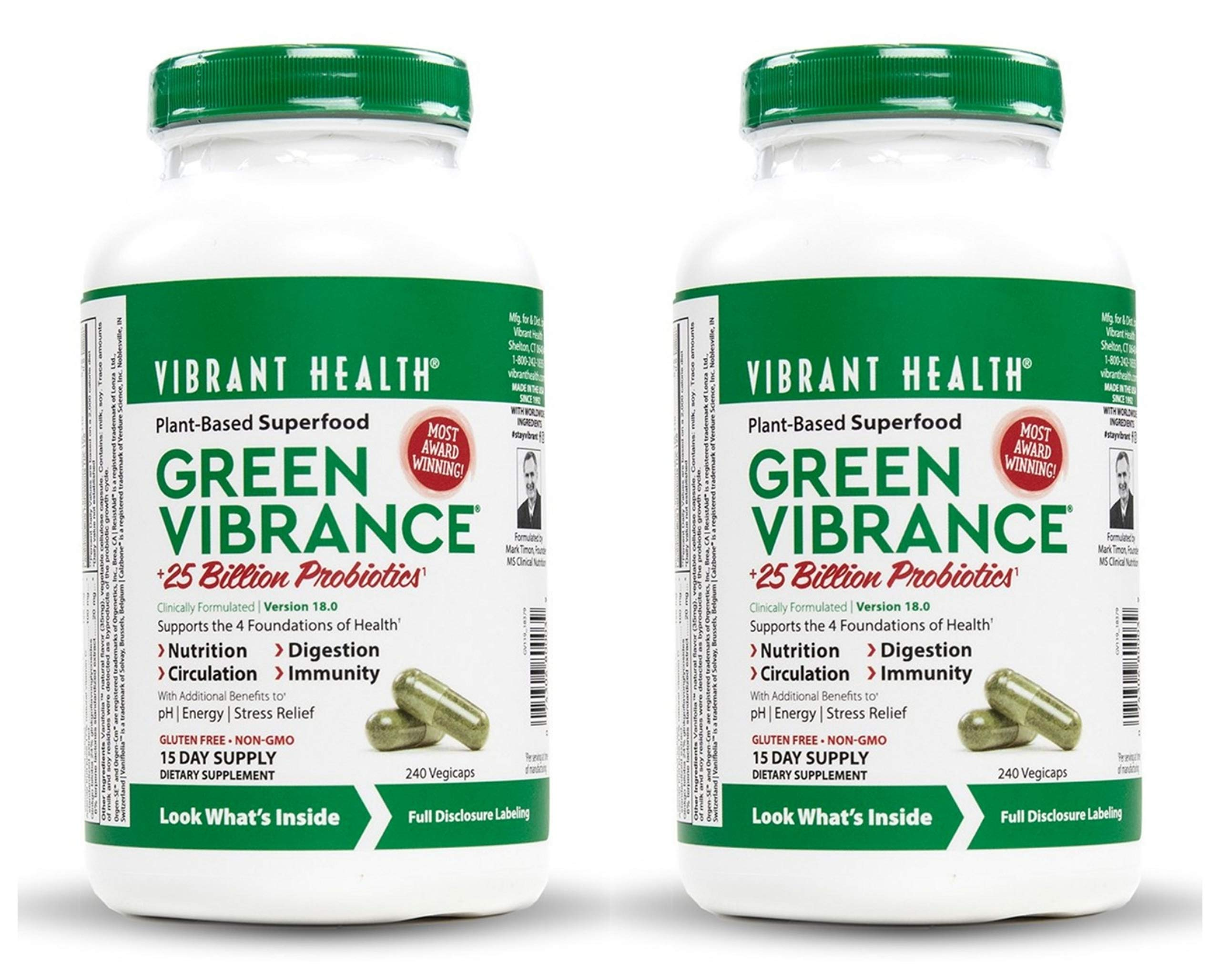 VibrantHealth - Green Vibrance - 240 vegicaps - 2 pack by Vibrant Health