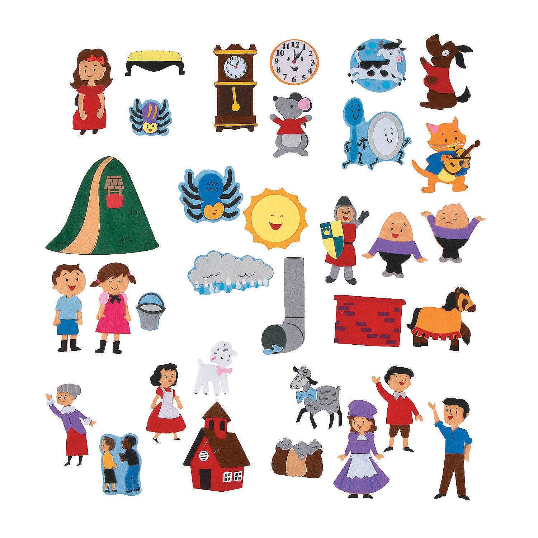 Fun Express Nursery Rhyme Storytelling Puppets (Set of 34) Classroom Teaching Aids by Fun Express
