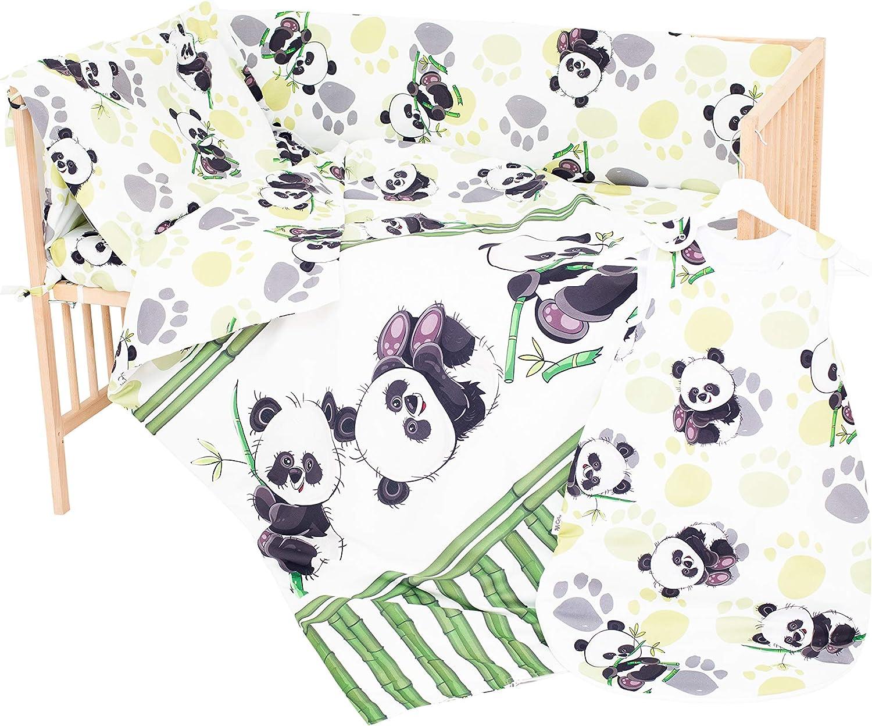 Taie doreiller et Housse de couette 80x80 cm Bambou panda PatiChou 100/% Coton Parure Linge de lit pour b/éb/é