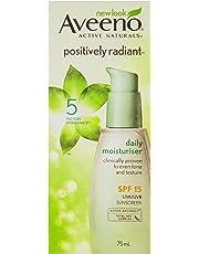 Aveeno Positively Radiant Daily Moisturizing SPF15 75mL