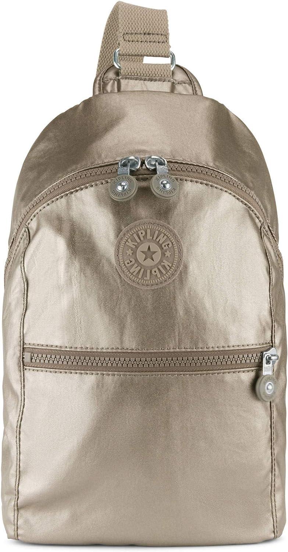 Kipling Bente Metallic Sling Backpack Metallic Pewter