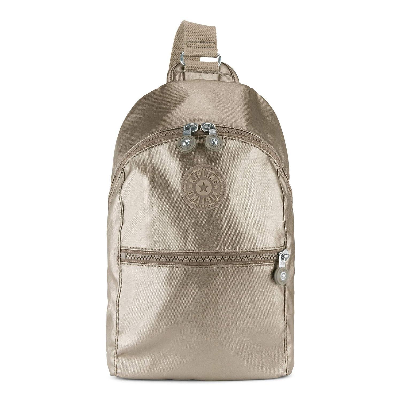 bb69a24fd7 Amazon.com: Kipling Bente Metallic Sling Backpack One Size Metallic Pewter:  Shoes