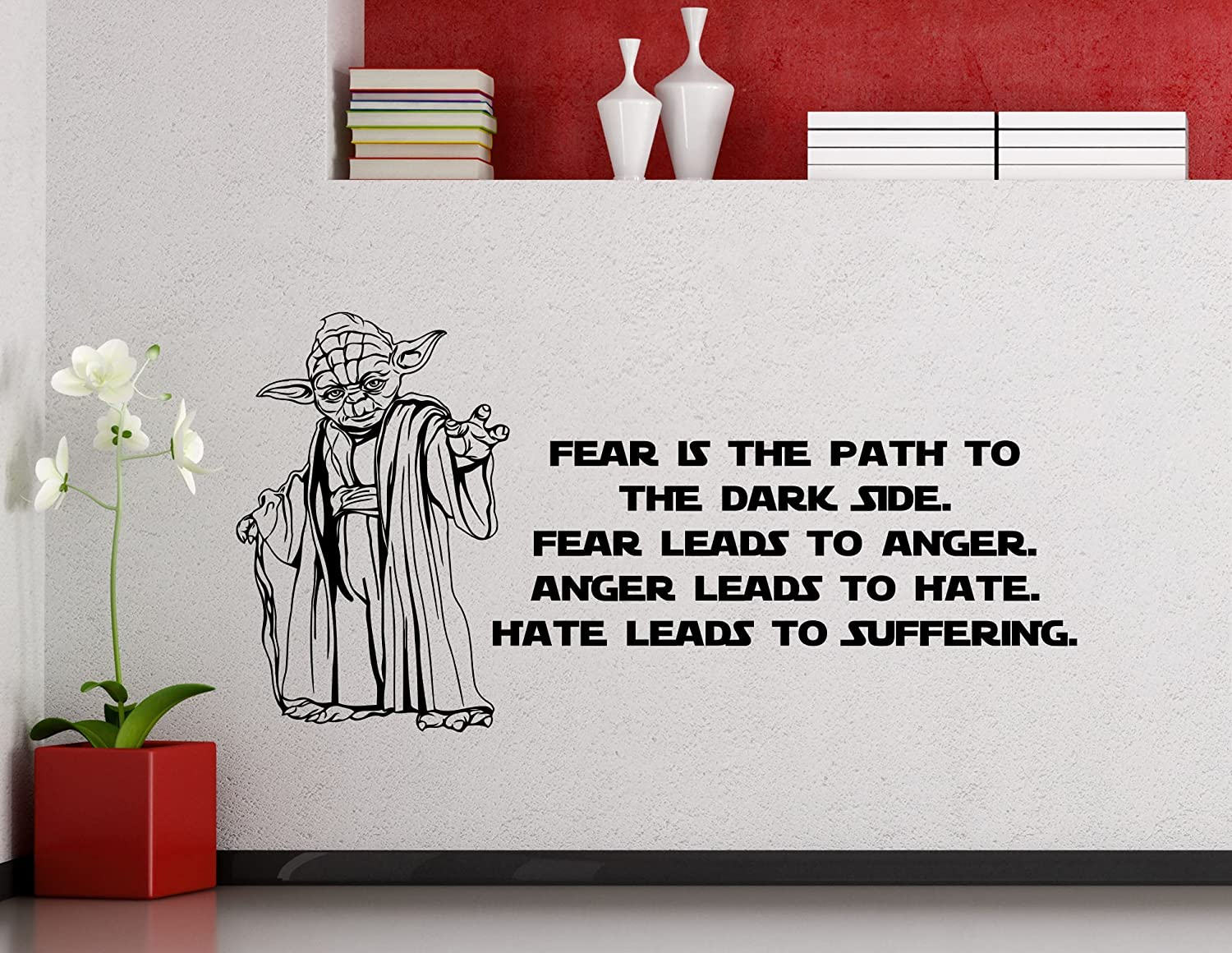 Amazon Star Wars Wall Vinyl Decal Fear Is The Path To The Dark