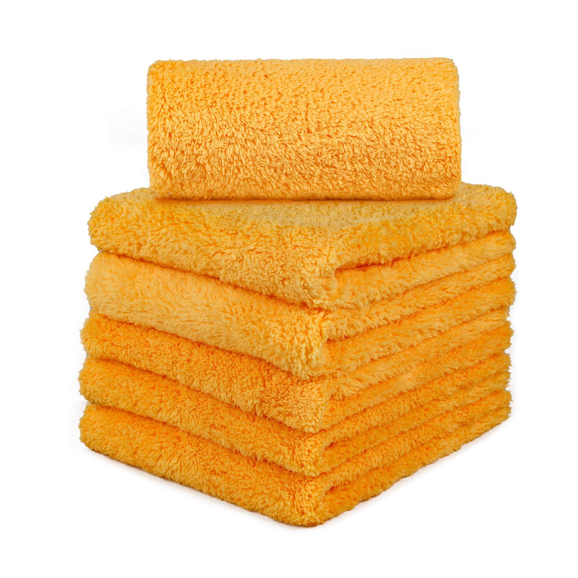 CARCAREZ Microfiber Car Wash Drying Towels Professional Grade Premium Microfiber Towels for Car Wash Drying 16 in.x 16 in. Pack of 6