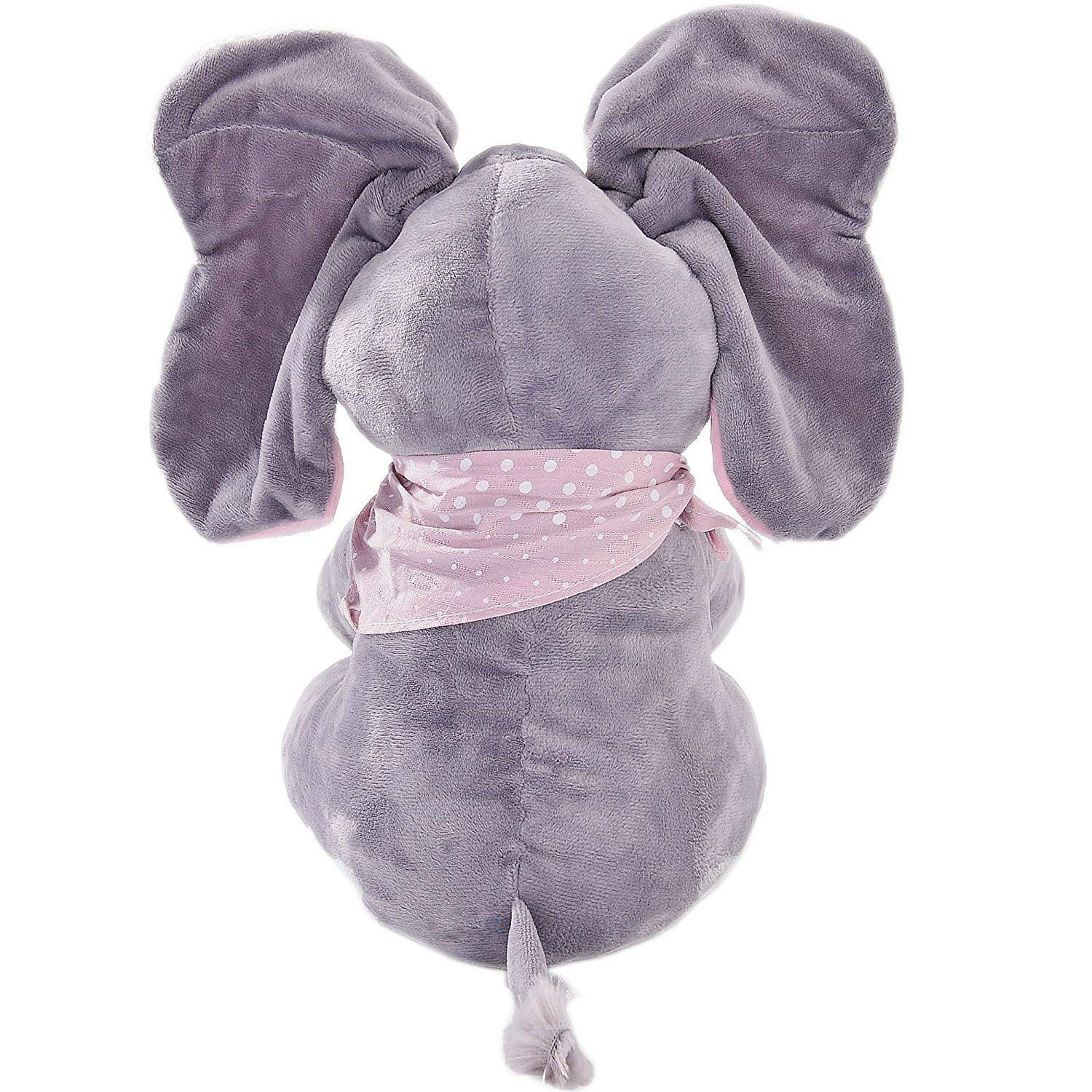 MLSH Floppy The Peek A Boo Elephant,Interactive Plush Toy Stuffed Animal Doll for Infants, Sings & Plays Gift for Baby Showers, Toddler Birthdays, Christmas Toys for Baby Birthday Gift Adjust Volume by MLSH