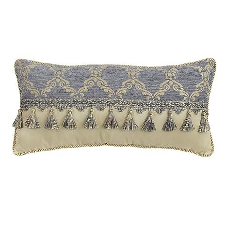 Amazon.com: Croscill Nadia Boudoir Pillow, Light Grey: Home ...