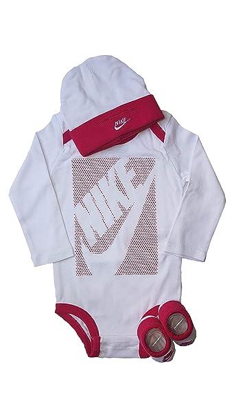 Nike - Pelele - para bebé niña Blanco/Rosa 0-6 Meses 60-
