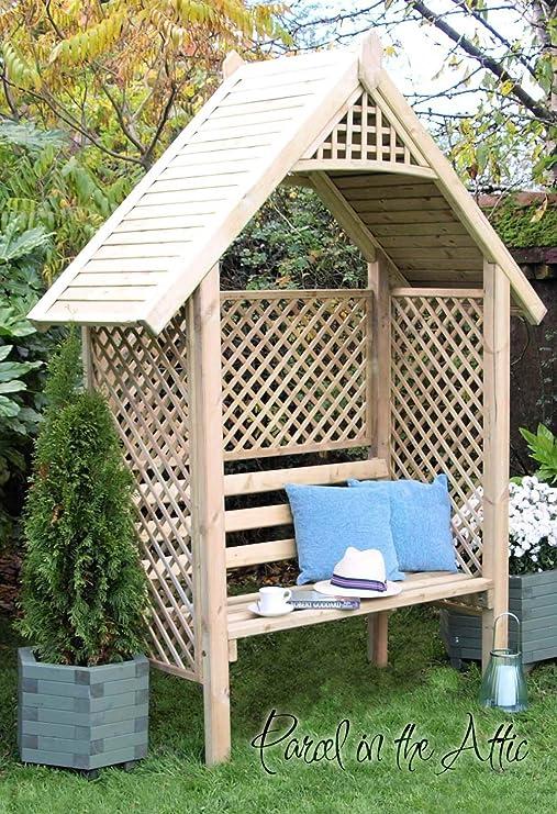 Asiento de Arbour Pergola en madera maciza tratada a presión, con enrejado jardín Muebles de jardín – garantizada para durar, Salamanca Arbour: Amazon.es: Hogar