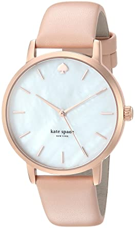 ddcdae7d6c8 kate spade new york Women s Metro Stainless Steel Analog-Quartz Watch with  Leather Calfskin Strap