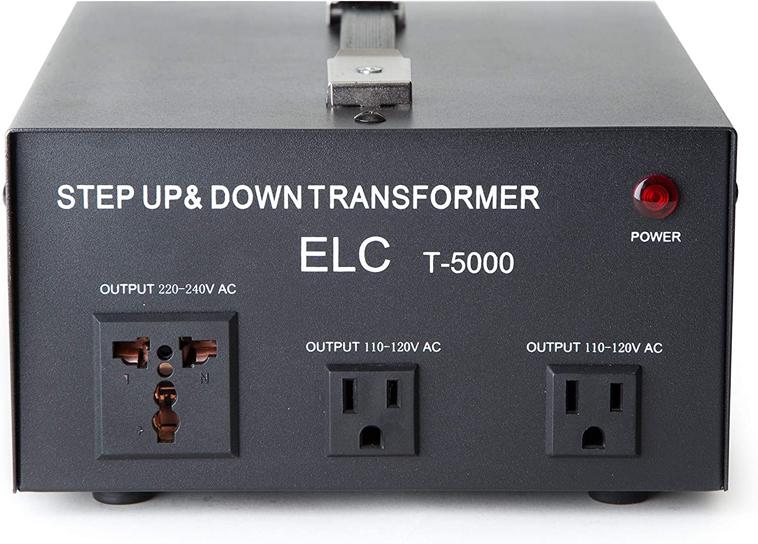 Amazon Com Elc T 5000 5000 Watt Voltage Converter Transformer Step Up Down 110v 220v Circuit Breaker Protection 3 Years Warranty Home Audio Theater