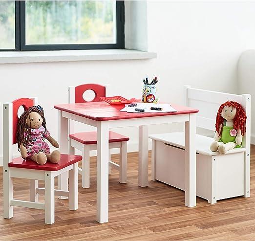 Diluma Kindersitzgruppe Rosa 4 Teiliges Kindermöbel Set 1