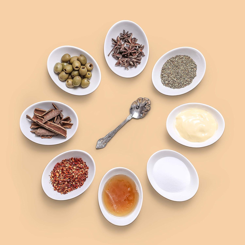 470 ml 80 ml Set di 6 Ciotole da zuppa in Porcellana Bianco Colore: Bianco Naturale 17,5 cm Lifver