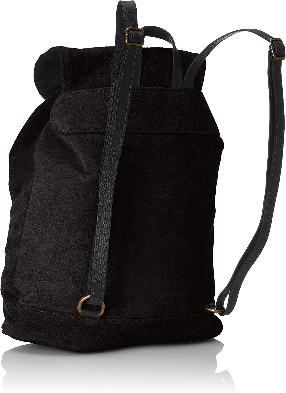 zaino borsa backpack da donna in pelle leather manico made in Italy fango 80022