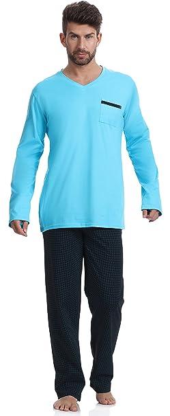 Timone Pijama para Hombre 2003 (Turquesa-F3A, XL)