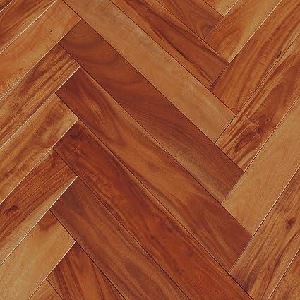 Acacia Herringbone Golden Sagebrush Solid Hardwood Floor