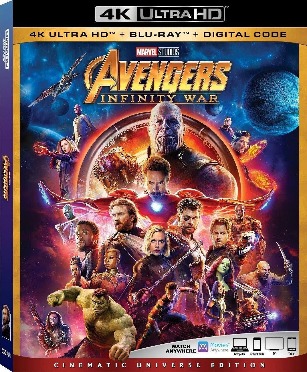 Avengers Infinity War 4K Ultra HD + Blu Ray + Digital Code [Blu-ray] by M-Video