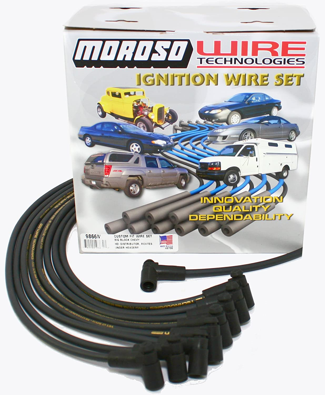 1 Pack Moroso 9866M Mag-Tune Plug Wire Set BBC 90 Degree HEI