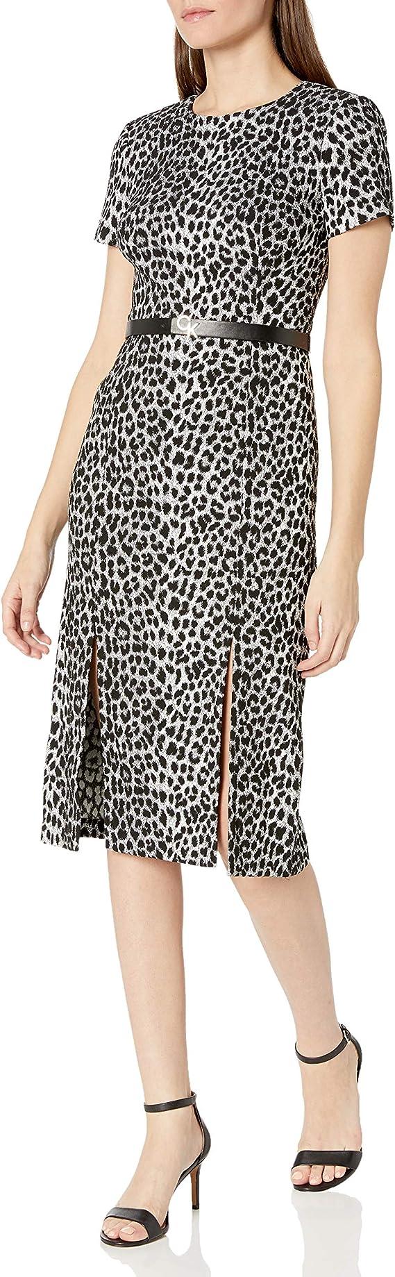 Calvin Klein 卡尔文克莱因 CK 豹纹印花 女式连衣裙 3折$35.99 海淘转运到手约¥285