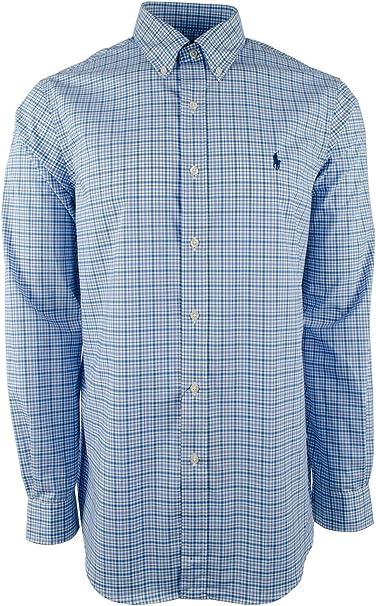 Ralph Lauren Men/'s Solid Poplin Longsleeve Button Down Shirt Classic Fit