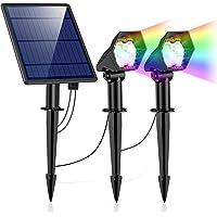 Luces Solares Exterior, Ultra Potente Lámparas Solares Impermeable IP65, 6 Modos Focos LED Exterior, Luz de Seguridad…